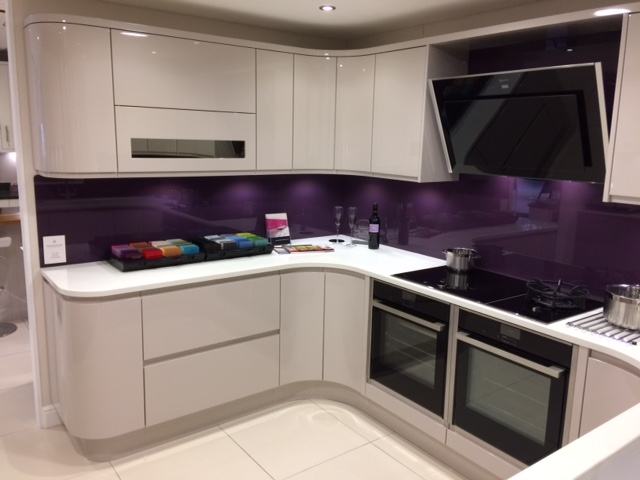Sheraton In Line High Gloss Cashmere Ex Display Kitchen