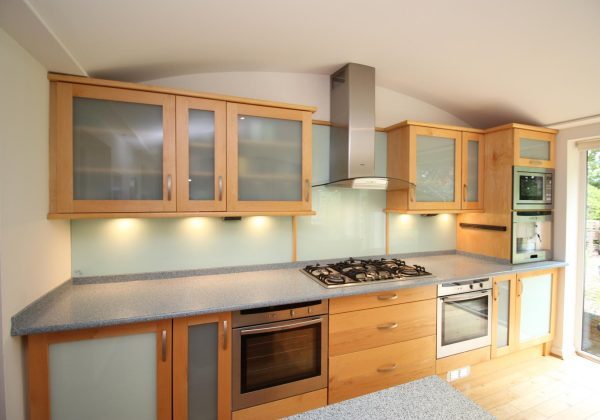 Large Family Used Kitchen From Side