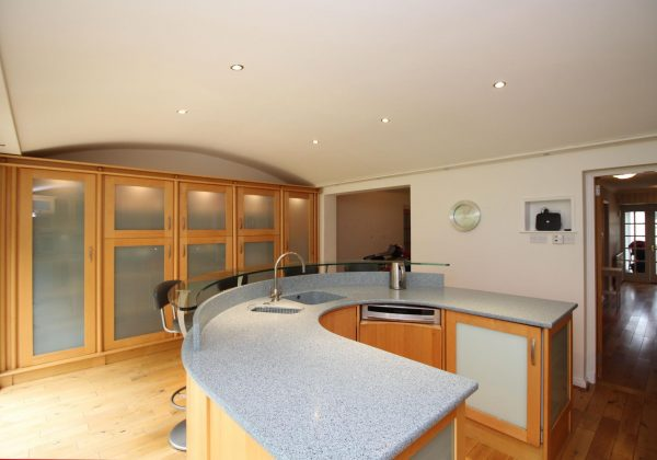 Large Family Used Kitchen Side On