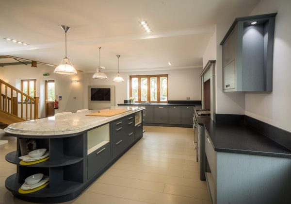 MEREWAY English Revival Bespoke In-Frame Ex Display Kitchen Full View
