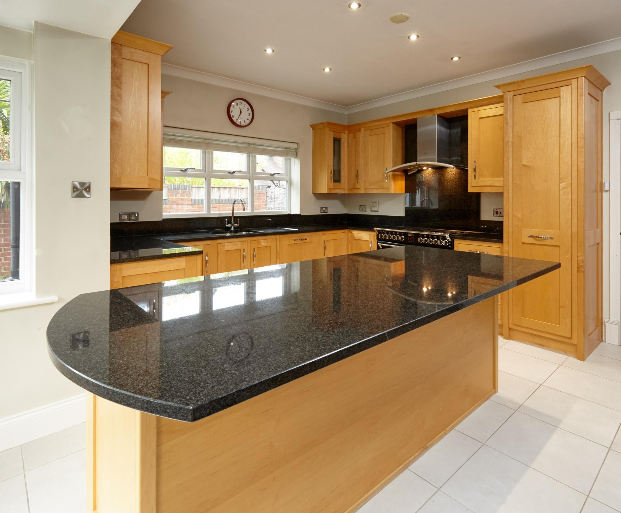 Traditional Shaker In-Frame Family Used Kitchen with Island - Full View