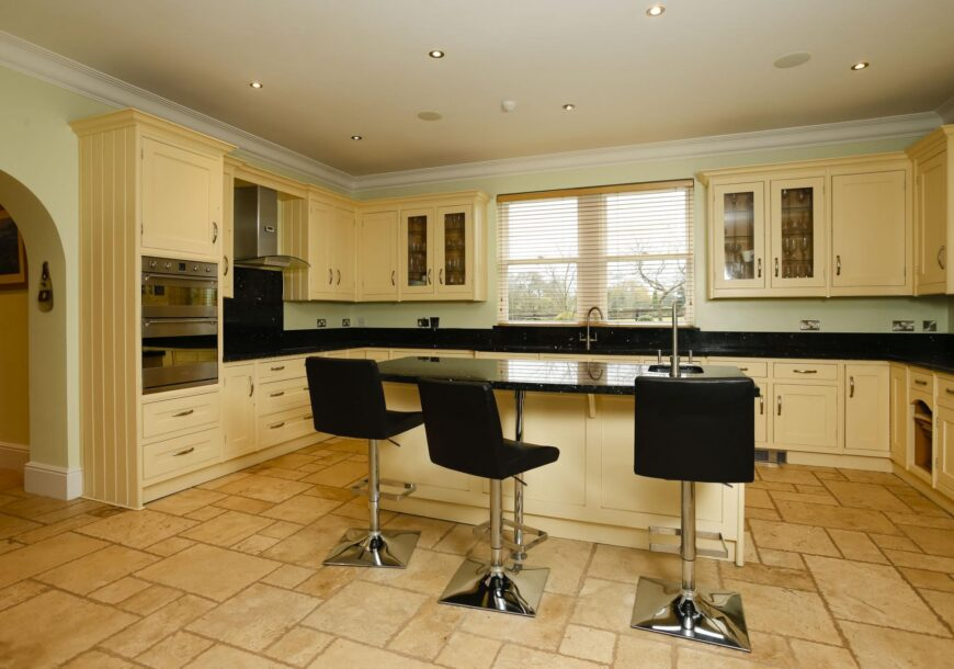 Very Large Shaker Used Kitchen with Island, Appliances & Granite Worktops, Leeds