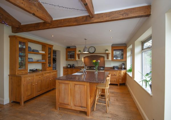 Traditional Bespoke Freestanding Wooden Used Kitchen