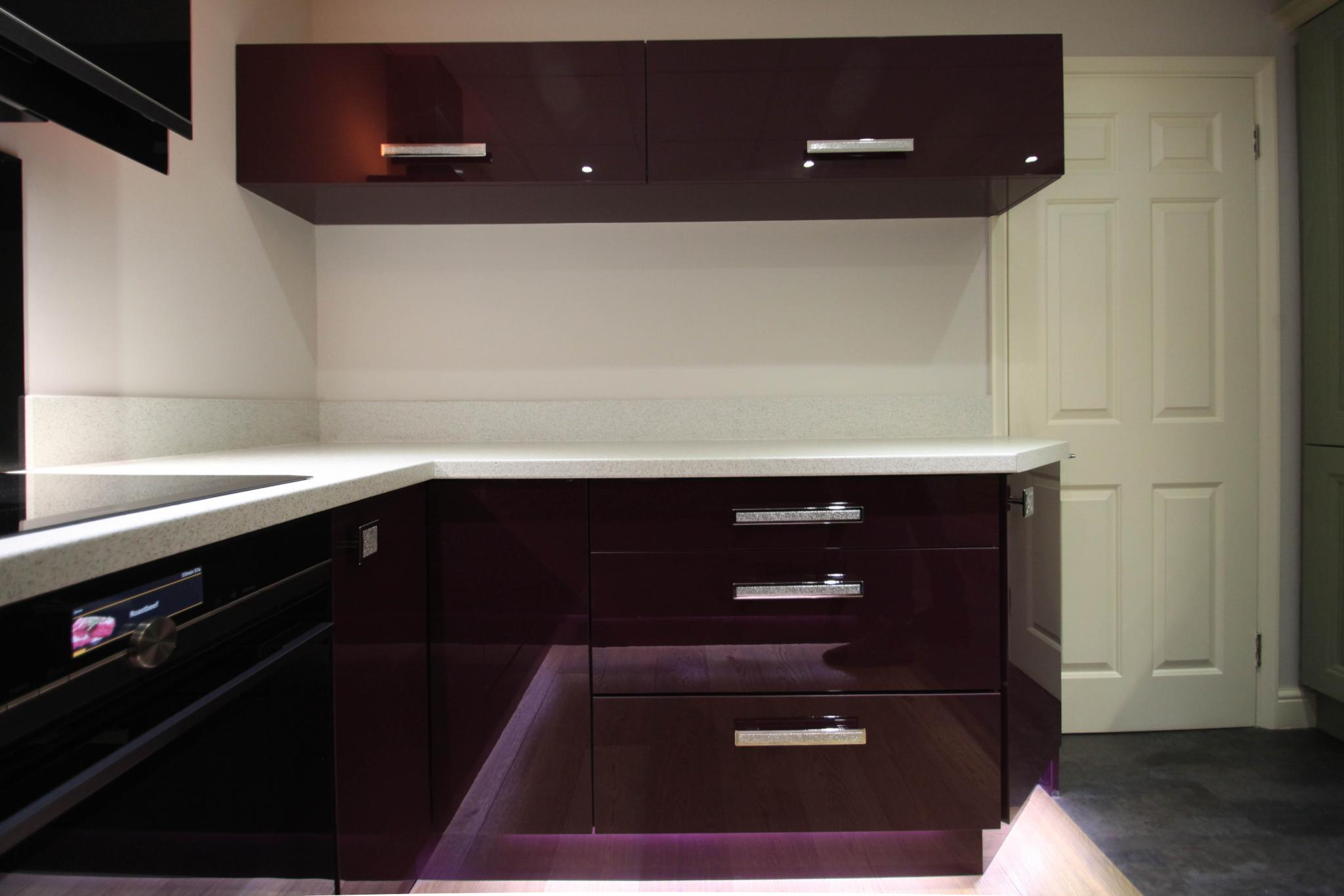 Over 50% OFF RRP £5129 High Gloss Aubergine Ex Display ...