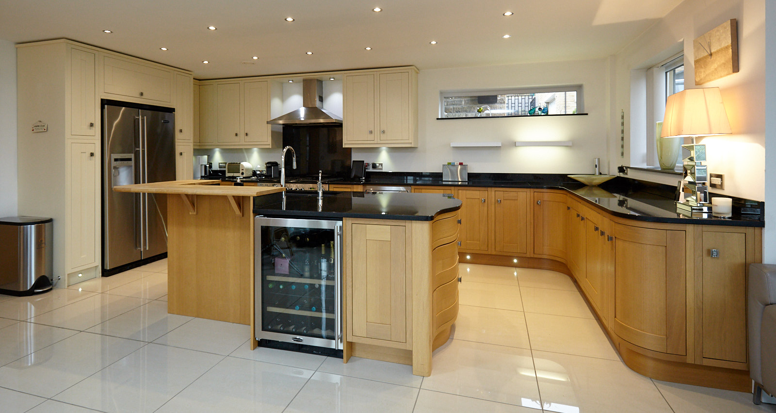 large bespoke in frame family used kitchen with island
