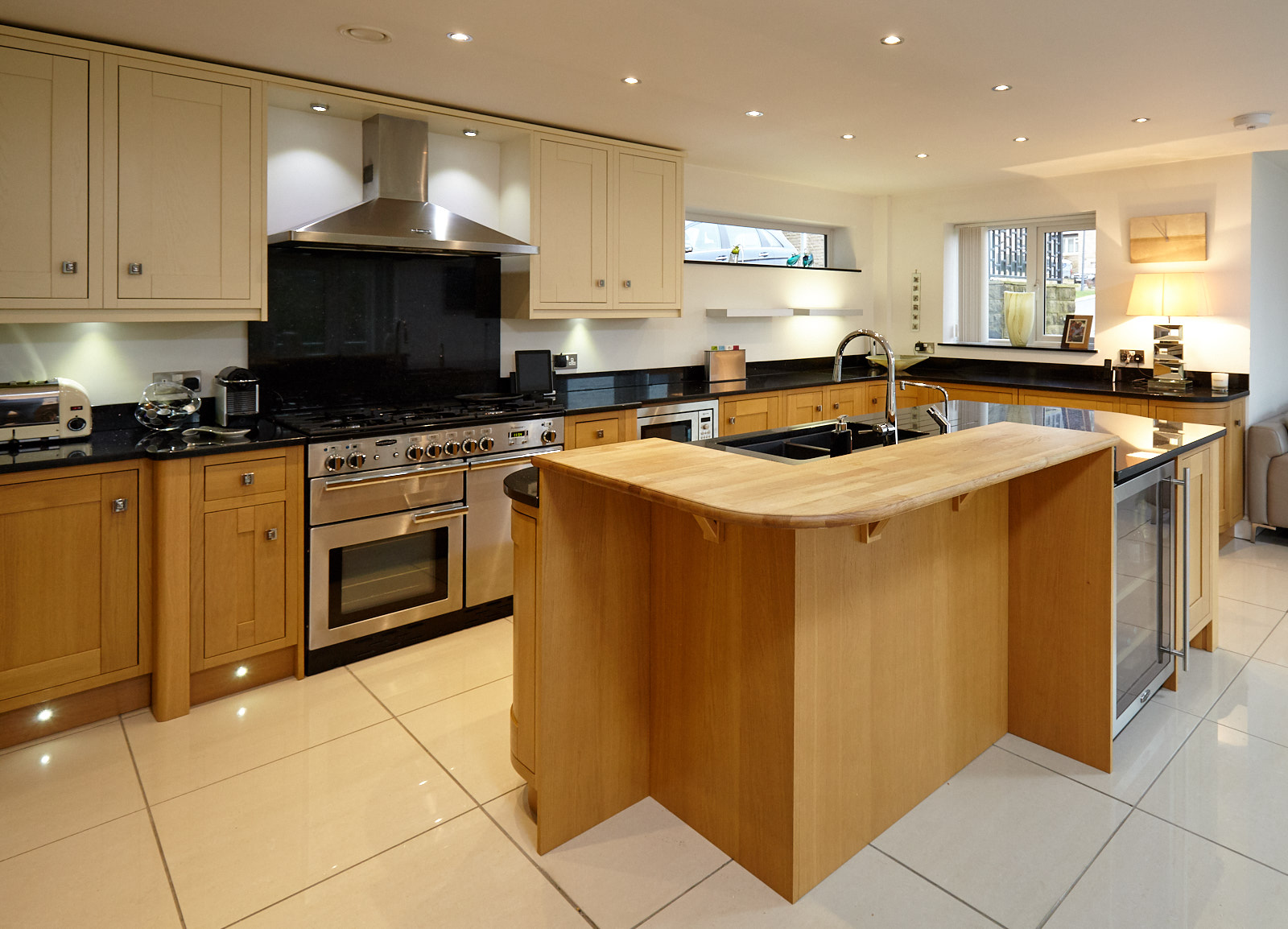 used kitchen islands large bespoke in frame family used kitchen with island breakfast bar greater manchester used 3794