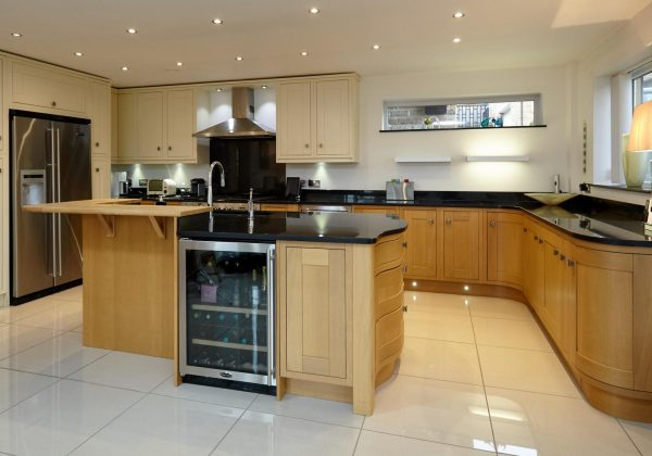 Large Bespoke In Frame Used Kitchen with Island Breakfast Bar
