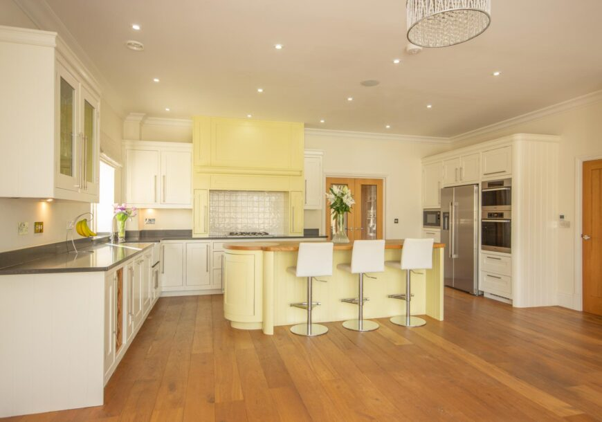 OPP ~ £50,000 Very Large In Frame Shaker Style Used Kitchen with Utility, Miele Appliances, Northampton