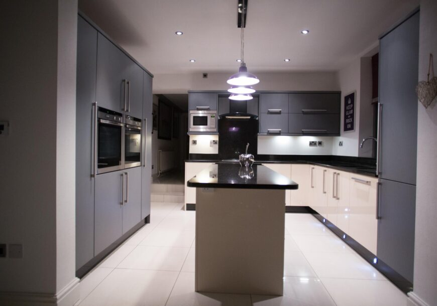 Contemporary Family Used Kitchen with Island, Granite Worktops, NEFF Appliances, Merseyside