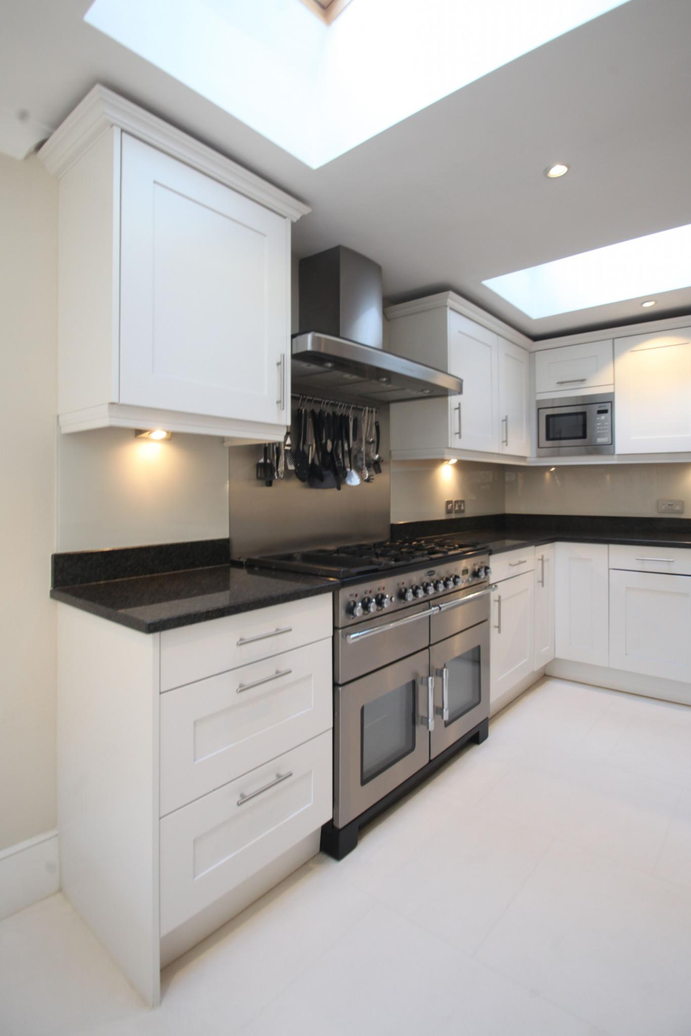 Painted Shaker Style Used Kitchen With Island London