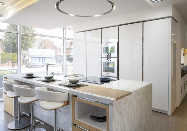 Rrp 81500 Siematic S2 L S2 H White Gloss Ex Display Kitchen With