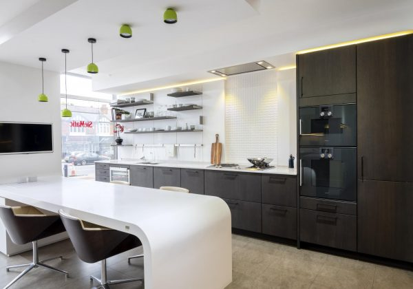 62% OFF RRP £55,000 SIEMATIC SE4004H Ex Display Kitchen, Curved Table &  GAGGENAU Appliances, Midlands