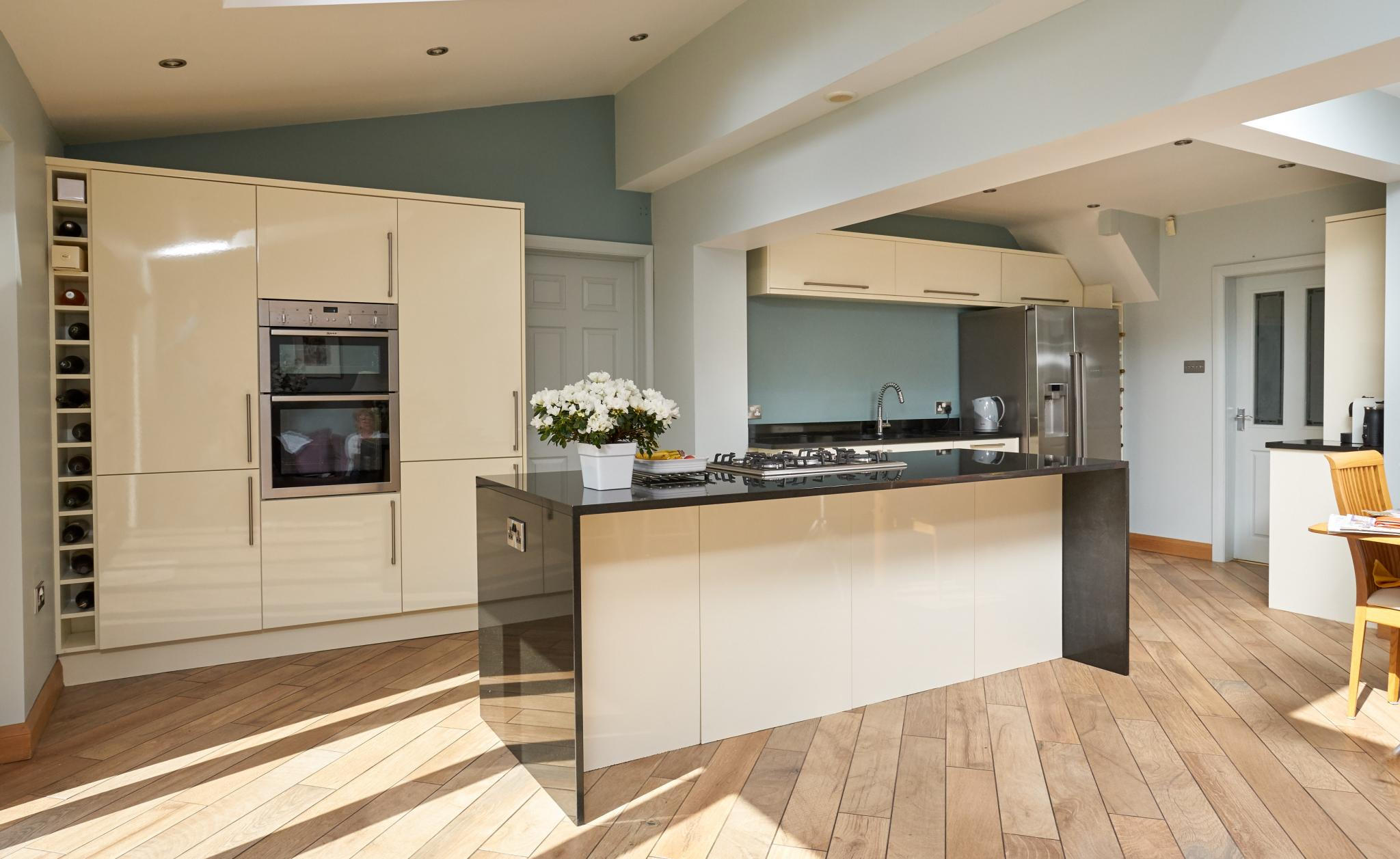 for kitchen use modern gloss used kitchen with island breakfast bar neff
