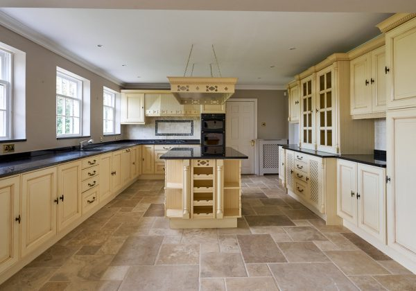 French Provincial Style Painted Used Kitchen