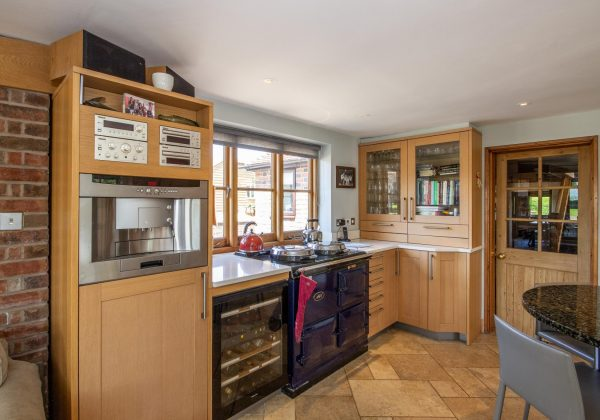 Large Shaker Used Kitchen with Granite Worktops