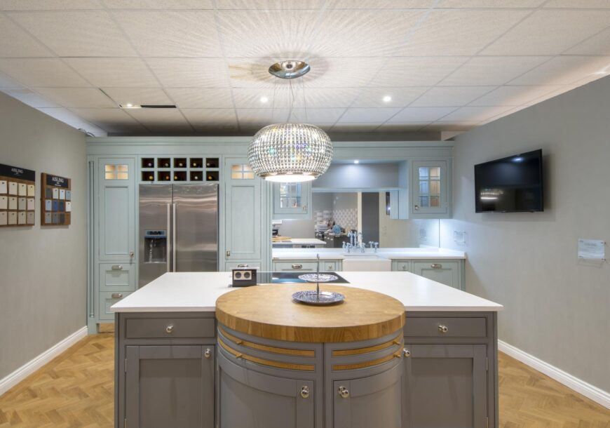 66% OFF RRP £53,600+ AISLING In Frame Painted Ex Display Kitchen, Midlands