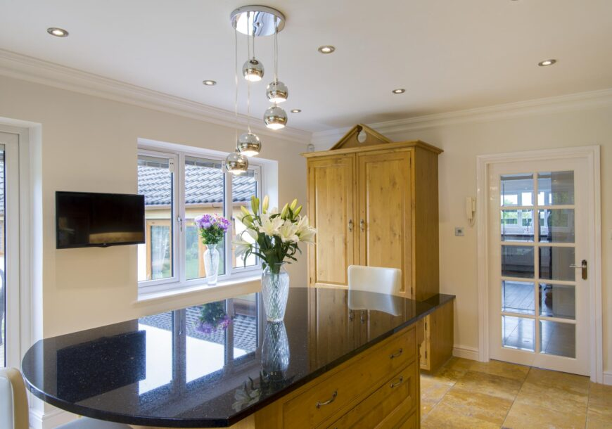 Large In Frame Pippy Oak Used Kitchen, Island, Dresser, NEFF Appliances, Leicestershire