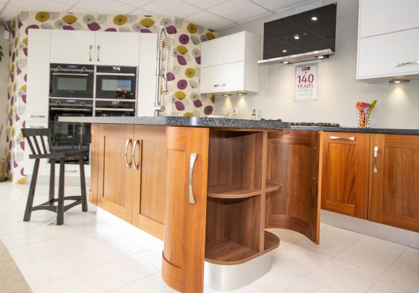 Walnut Shaker and White Ex Display Kitchen
