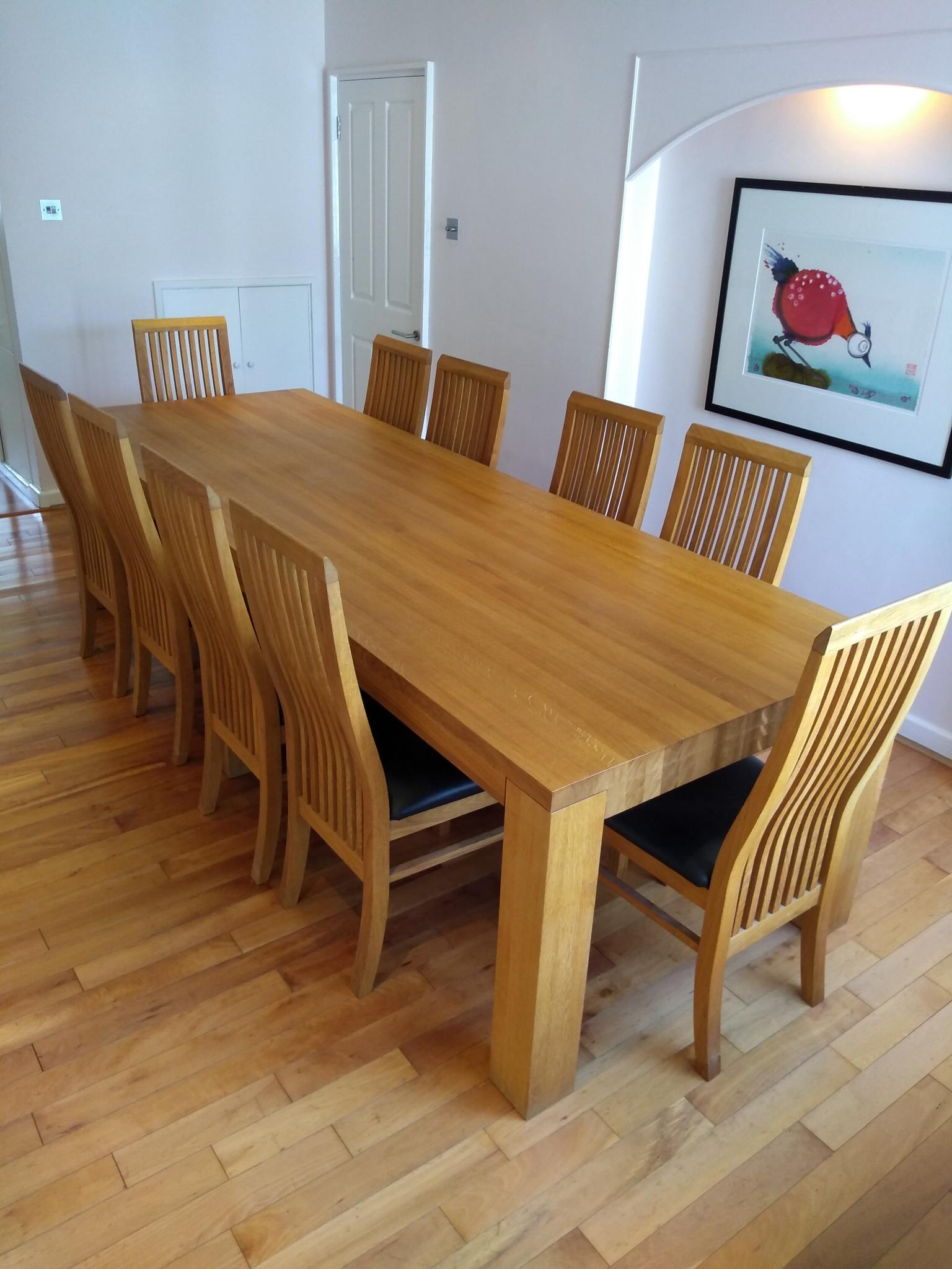Large Used Dining Table And Chairs London Used Kitchen