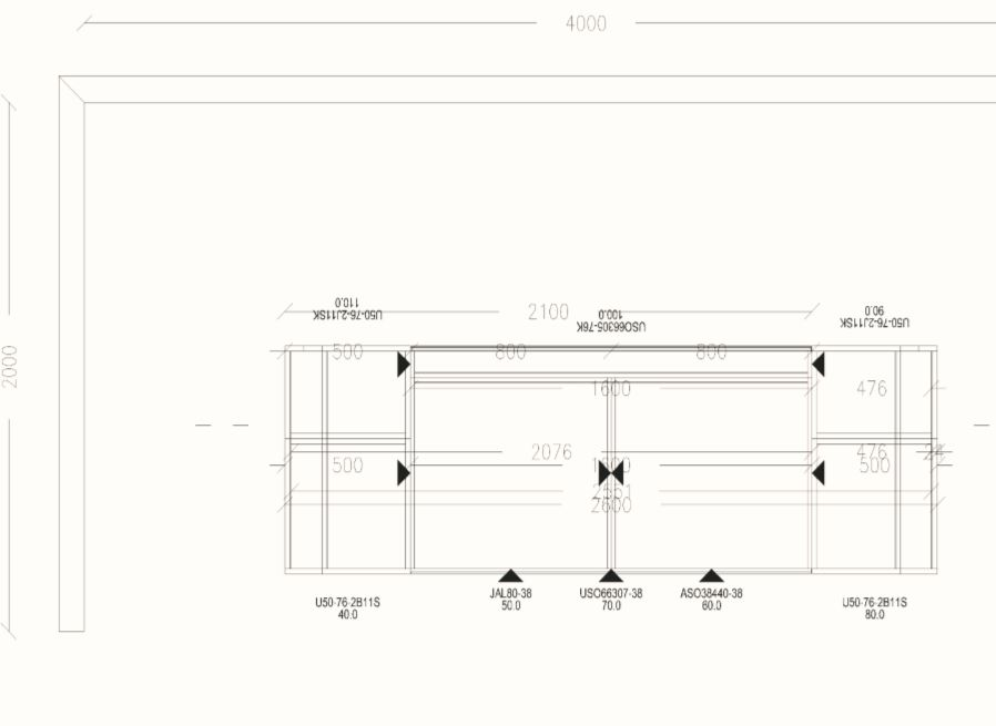 KUHLMANN K2 Ex Display Kitchen Island Plan