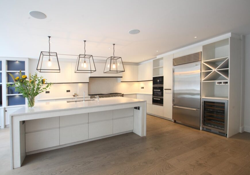 AVAILABLE FOR QUICK SALE ? Modern Used Kitchen with Large Island, LOTS OF MIELE Appliances