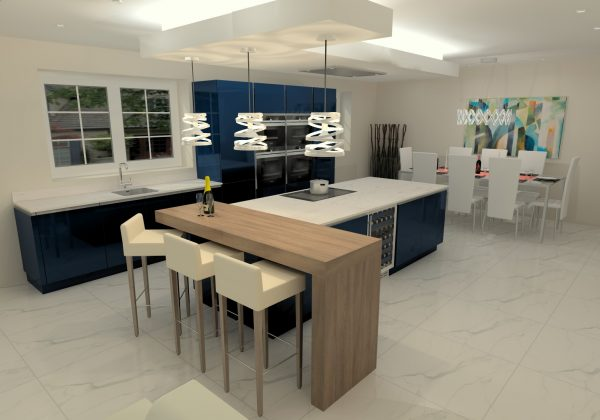 NOLTE High Gloss Deep Blue Kitchen