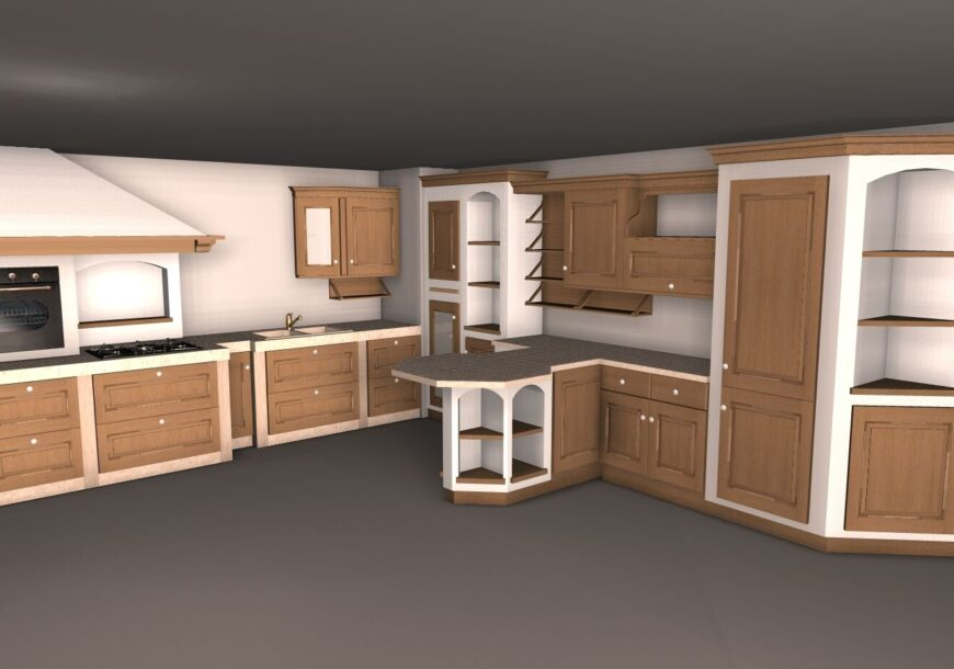 SCAVOLINI Belvedere Ex Display Kitchen Concept Drawing