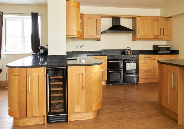 Large Shaker Used Kitchen with Range Oven and Appliances