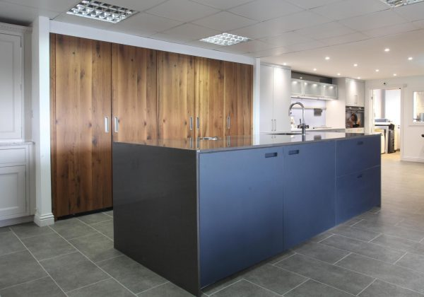 NEXT123 (Schuller) Oak & Indigo Ex Display Kitchen