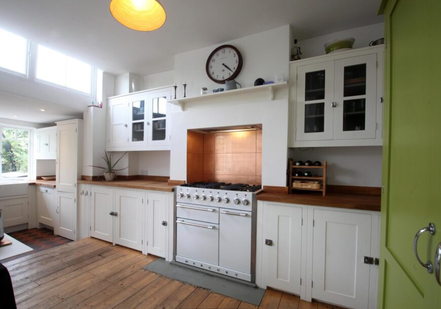 Traditional Painted Shaker In Frame Used Kitchen