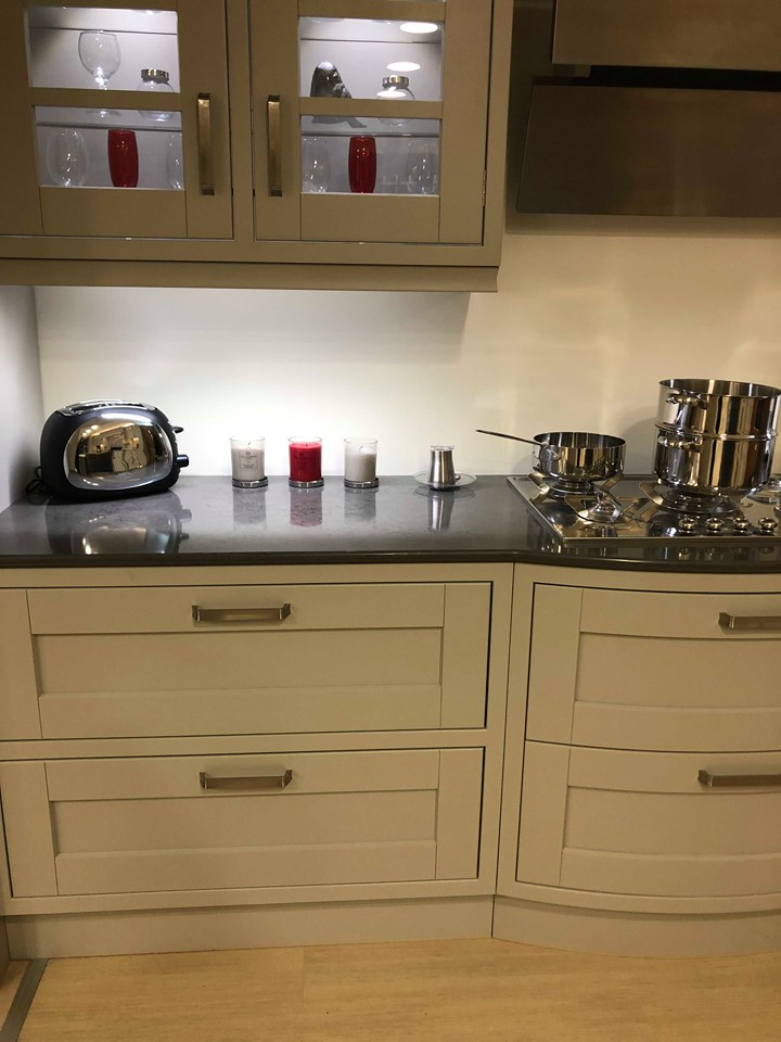 Uform Oak and Painted Stone Ex Display Kitchen
