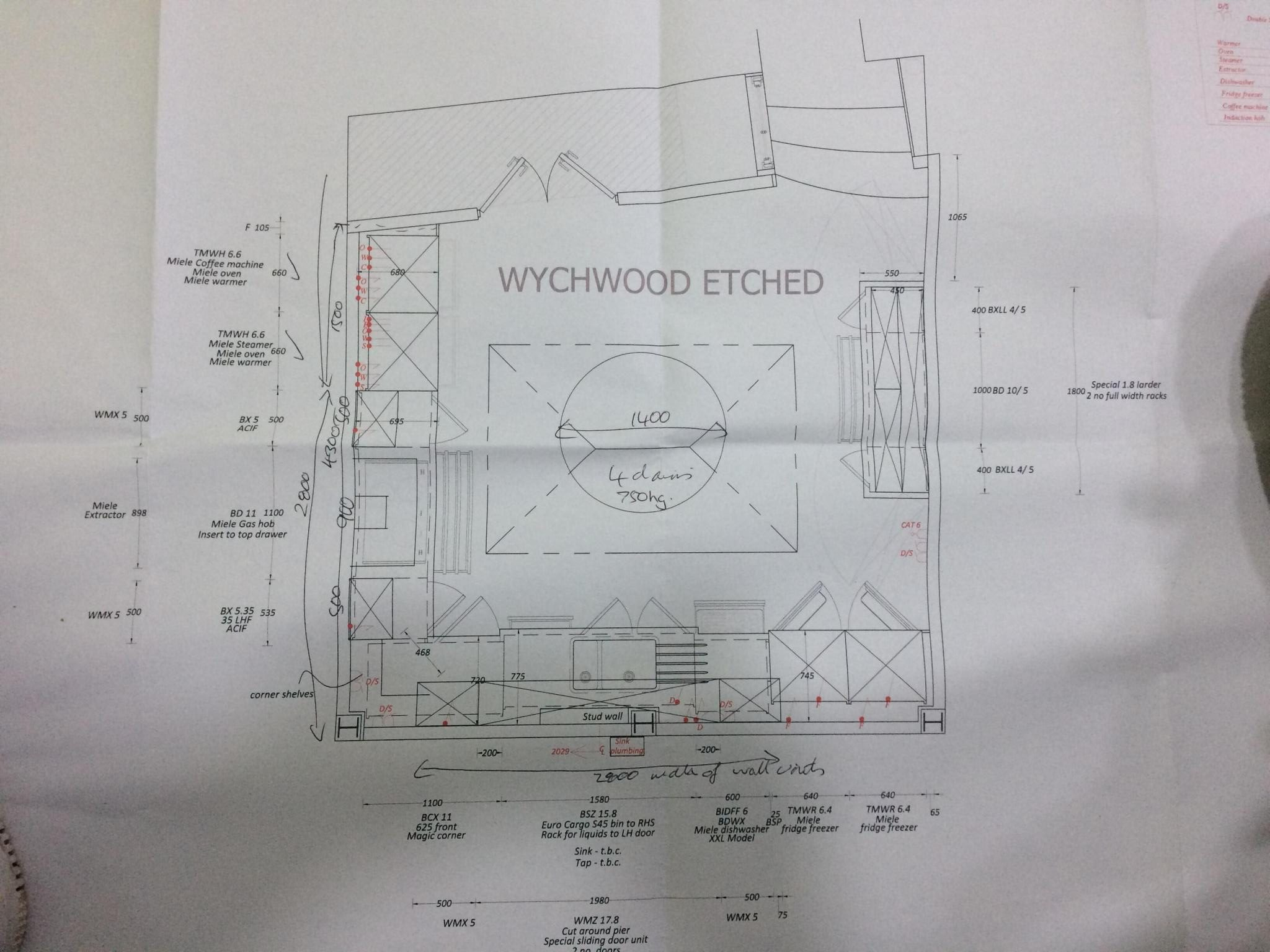 McCarron Wychwood Etched Ex Display Kitchen Plan