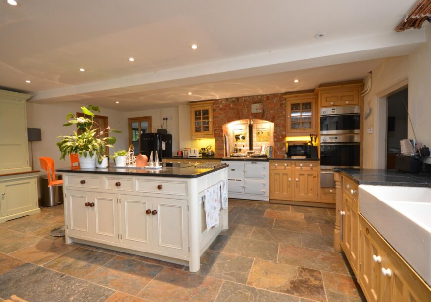 Classic Pine/Painted In Frame Used Kitchen, Miele Appliances, Wiltshire