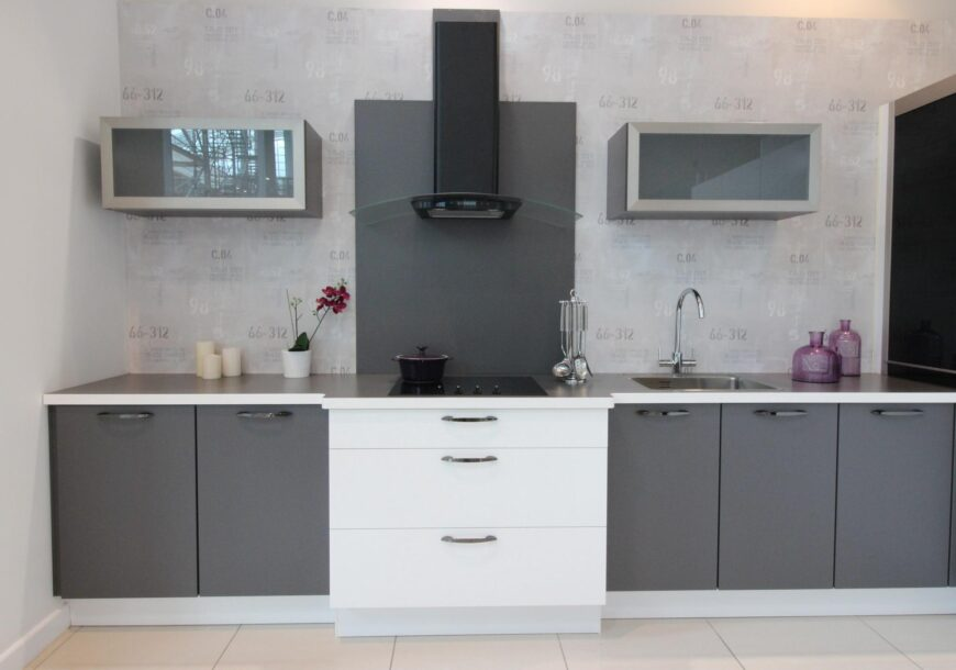LAST CHANCE TO BUY! 61% OFF RRP £14,000 Kütchenhaus ?? Touch Slate Grey and White Modern Ex-Display Kitchen, Manchester