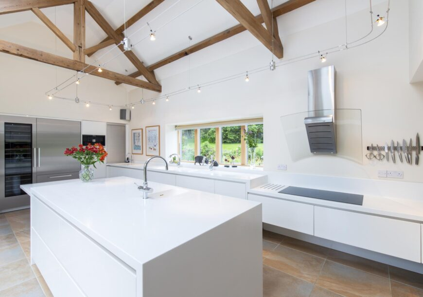 Approved Used Kitchen, Alno (German) Large Handleless, Miele Appliances, Buckinghamshire