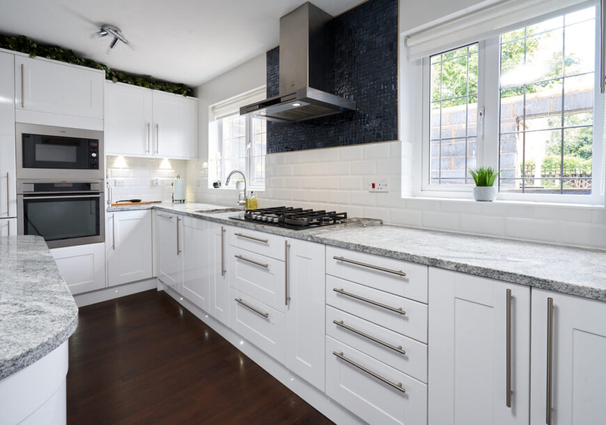 Approved Used Kitchen, Wickes Shaker with Island, AEG Appliances, Greater Manchester