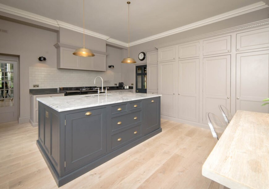 Approved Used Kitchen, Bespoke Painted In Frame, Oxfordshire