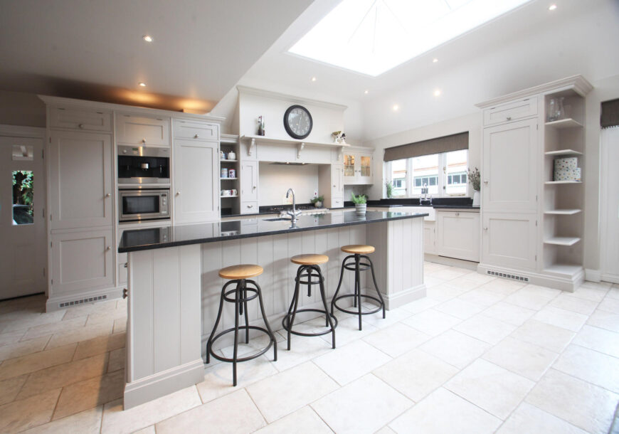 Approved Used Kitchen, Large Shaker with Island, Lacanche Range Oven, Surrey