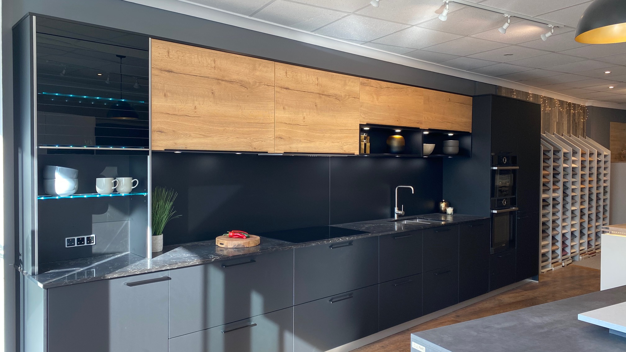 Ex Display Kitchen Hacker Systemat German Black South Used Kitchen Exchange