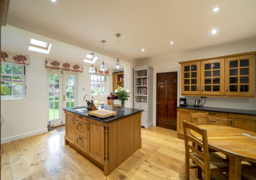 Approved Used Kitchen, Bespoke Shaker with Lacanche Range Oven, Buckinghamshire