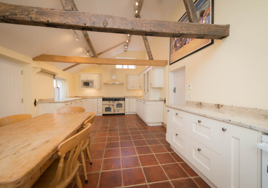 Approved Used Kitchen, Classic Painted Shaker, Rangemaster Oven, Suffolk