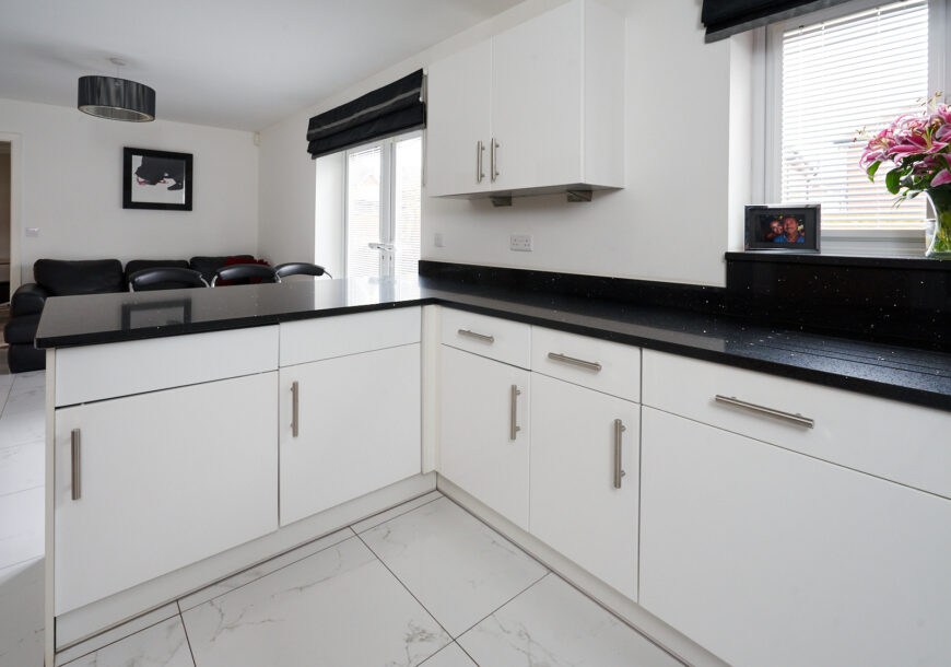 Approved Used Kitchen, Modern Gloss, NEFF Appliances, Cheshire