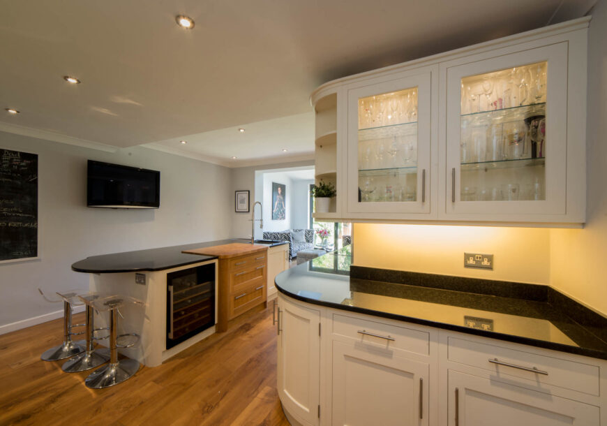 Approved Used Kitchen, Large Painted In frame Shaker, Suffolk