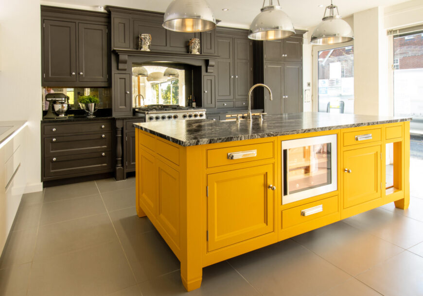 Ex Display Kitchen, Painted Bespoke In Frame, South