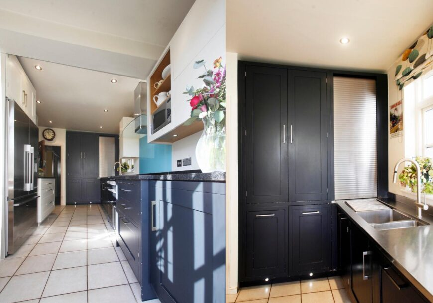 Approved Used Kitchen, Bespoke Roundhouse Matt Lacquer Classic & Metro, London