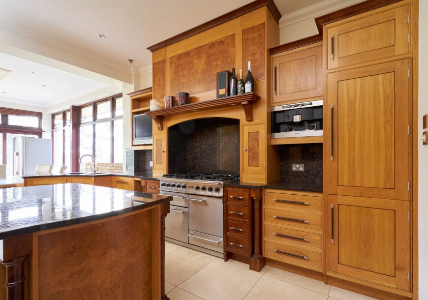 Approved Used Kitchen, Large Acanthus Bespoke Shaker, Falcon Range Oven, Wirral