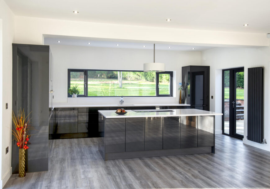 Approved Used Kitchen, Large Modern Handleless with Island, Utility, Nottinghamshire