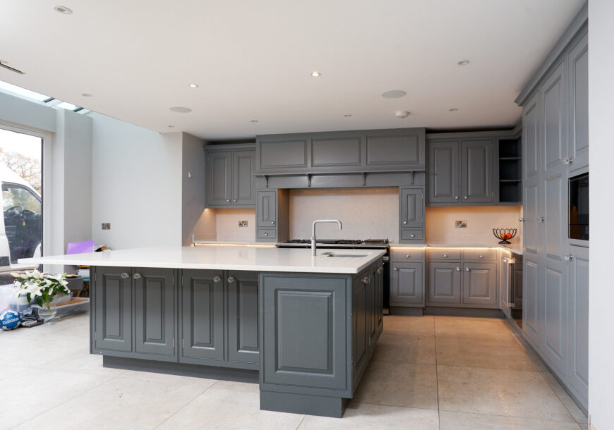 Approved Used Kitchen, AVAILABLE NOW! Large Painted In Frame Shaker, Lacanche Range Oven, Cheshire