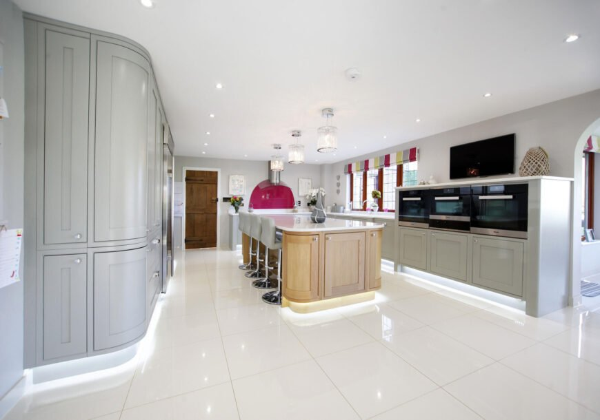 Approved Used Kitchen, Large In Frame Painted Shaker, East Sussex