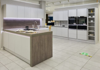 Wren Ex Display Kitchen, Modern Handleless, Milano Infinity Plus, North (1)